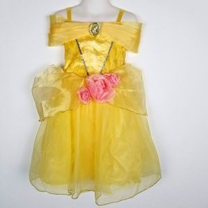 Disney Store Belle Beauty & The Beast Yellow Dress